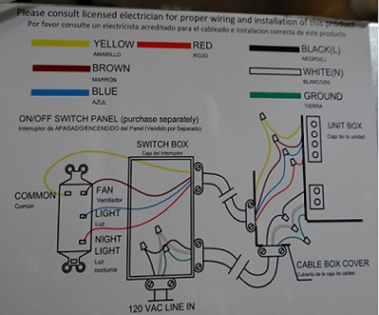 H&ton Bay Ventilation Fan Wiring