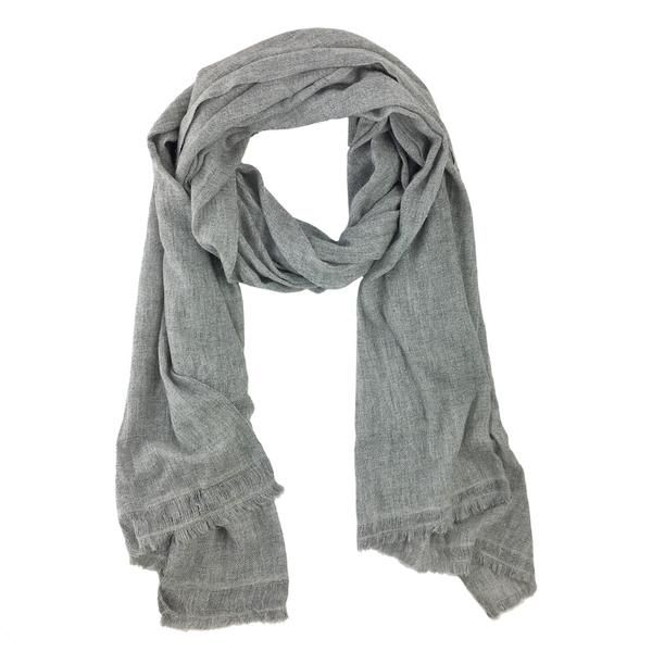 626b598cec6a5 Handmade gray cashmere scarf | Made by artisans in Nepal | SLATE + SALT