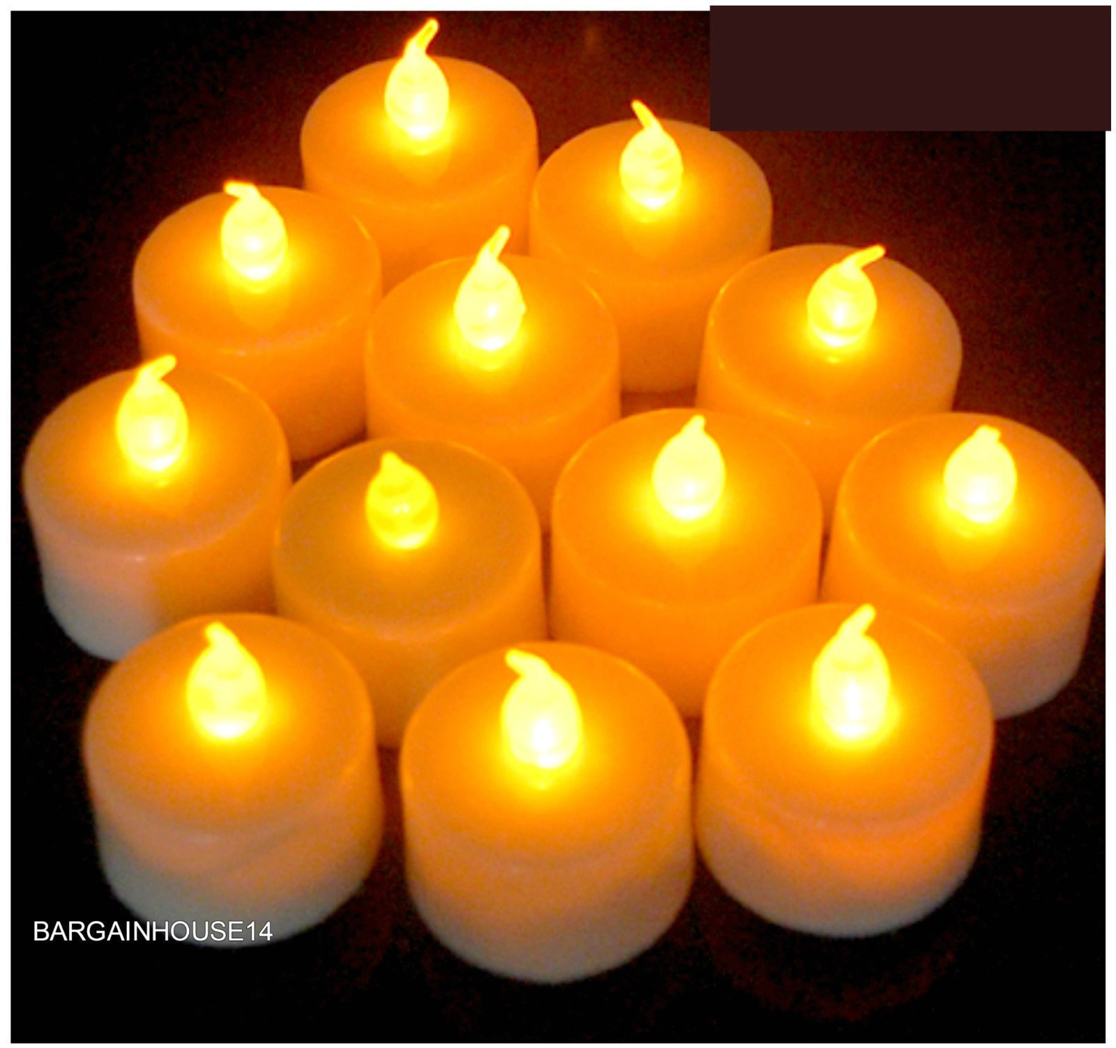 1PC Flameless Votive Candles Battery Operated Flickering LED Tea Light Décor
