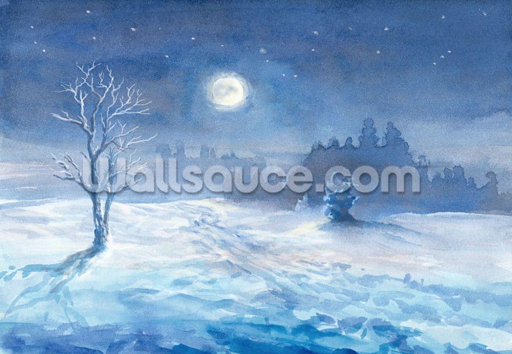 Moonlit winter night | Wallsauce IT