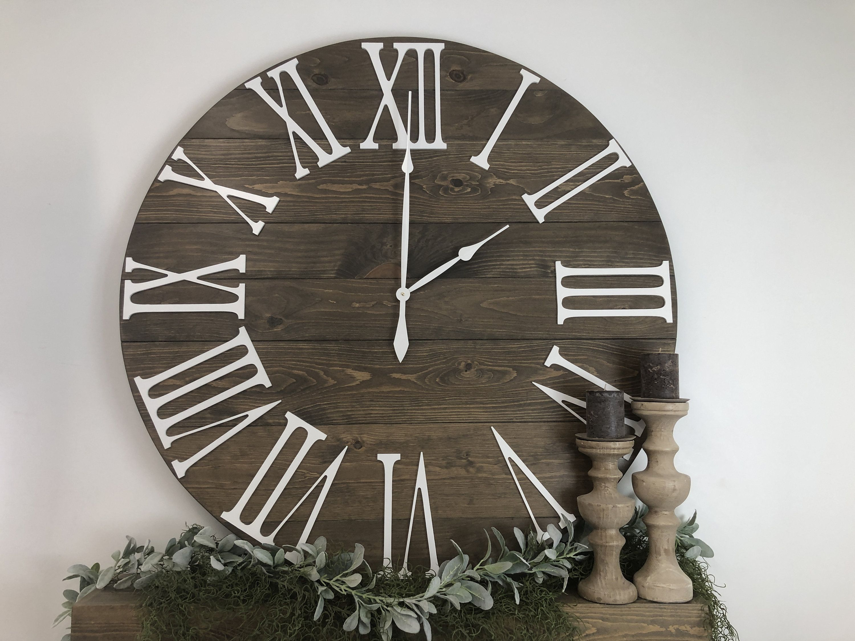 Giant Wall Clock Quot The Bailey Quot Roman Numeral 36 Quot 42 Quot 48
