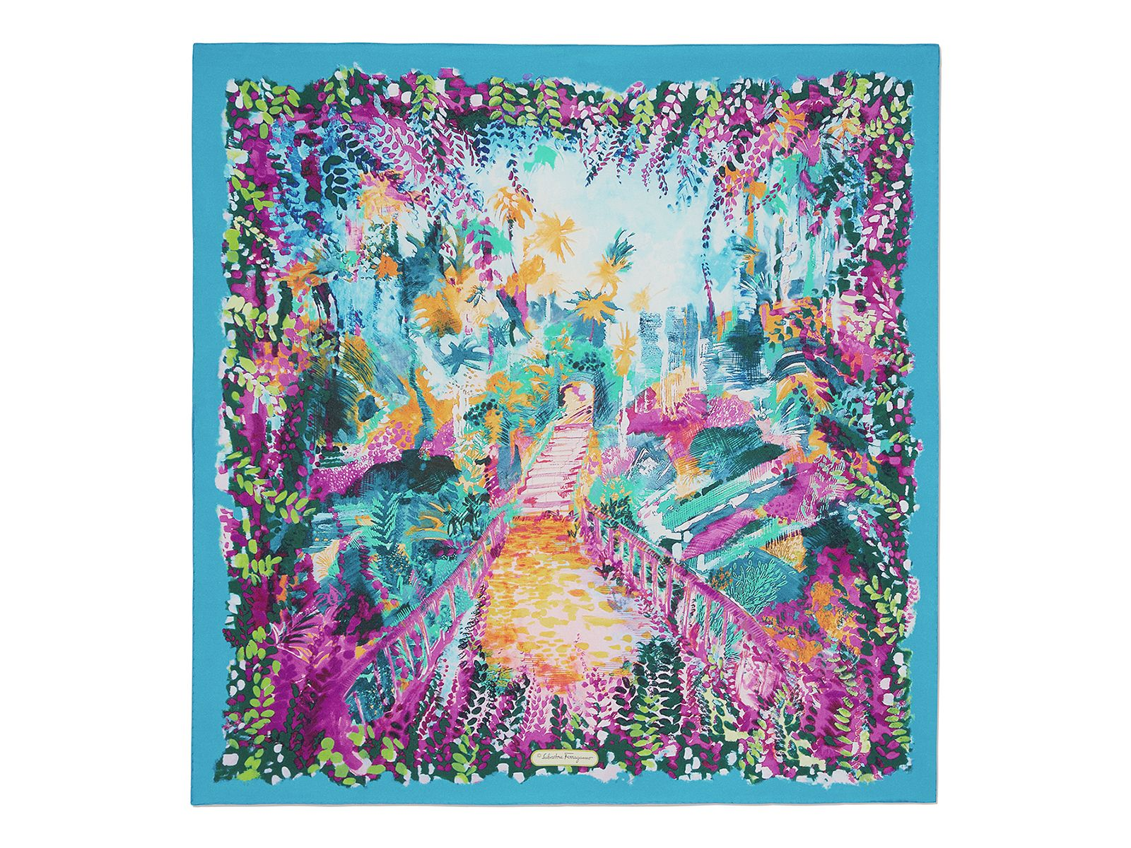 Clearance Big Discount Pay With Visa Cheap Price Salvatore Ferragamo abstract print scarf Outlet Official Site ftNBJIoTu