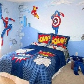 Boys superhero Avengers bedroom wall decor theme ideas from getitcut ...