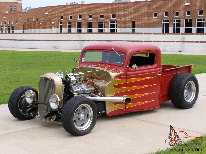 Old School Flames Hot Rod | 1935 FORD ALL STEEL NEW/OLD SCHOOL HOT ...