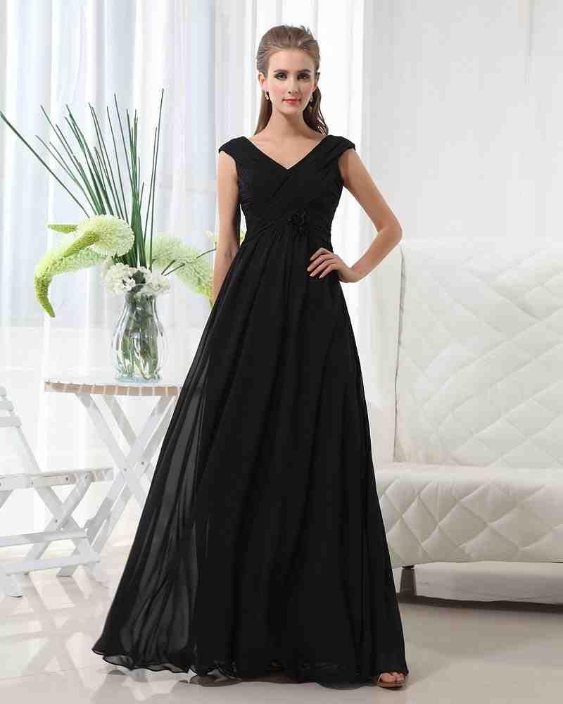 Long Black Chiffon Bridesmaid Dresses 1 Black Bridesmaid Dresses Vintage Bridesmaid Dresses Custom Bridesmaid Dress