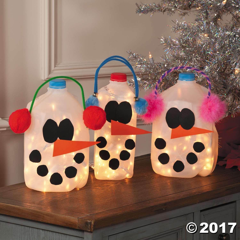 DIY Snowman Milk Jugs Idea