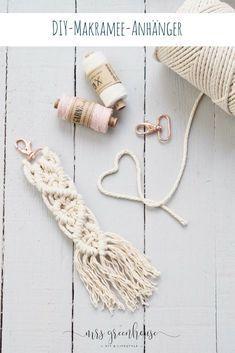 DIY pour un pendentif en macramé fait maison   – Hobby