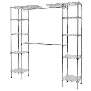 steel closet system organizer grey