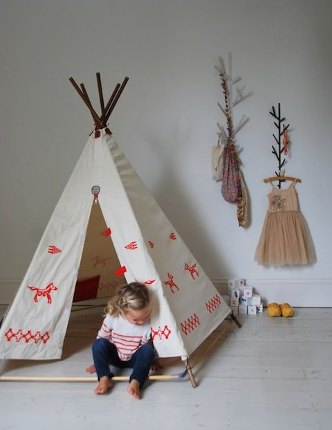 Kids Room Awesome Kids Rooms With Indian Styles Play Tents Also Laminated Wooden Floor And Unique Wall Mounted Rails For Hanging Clothes And Other Stuff ... & childrenu0027s teepee | cool things for little people | Pinterest ...