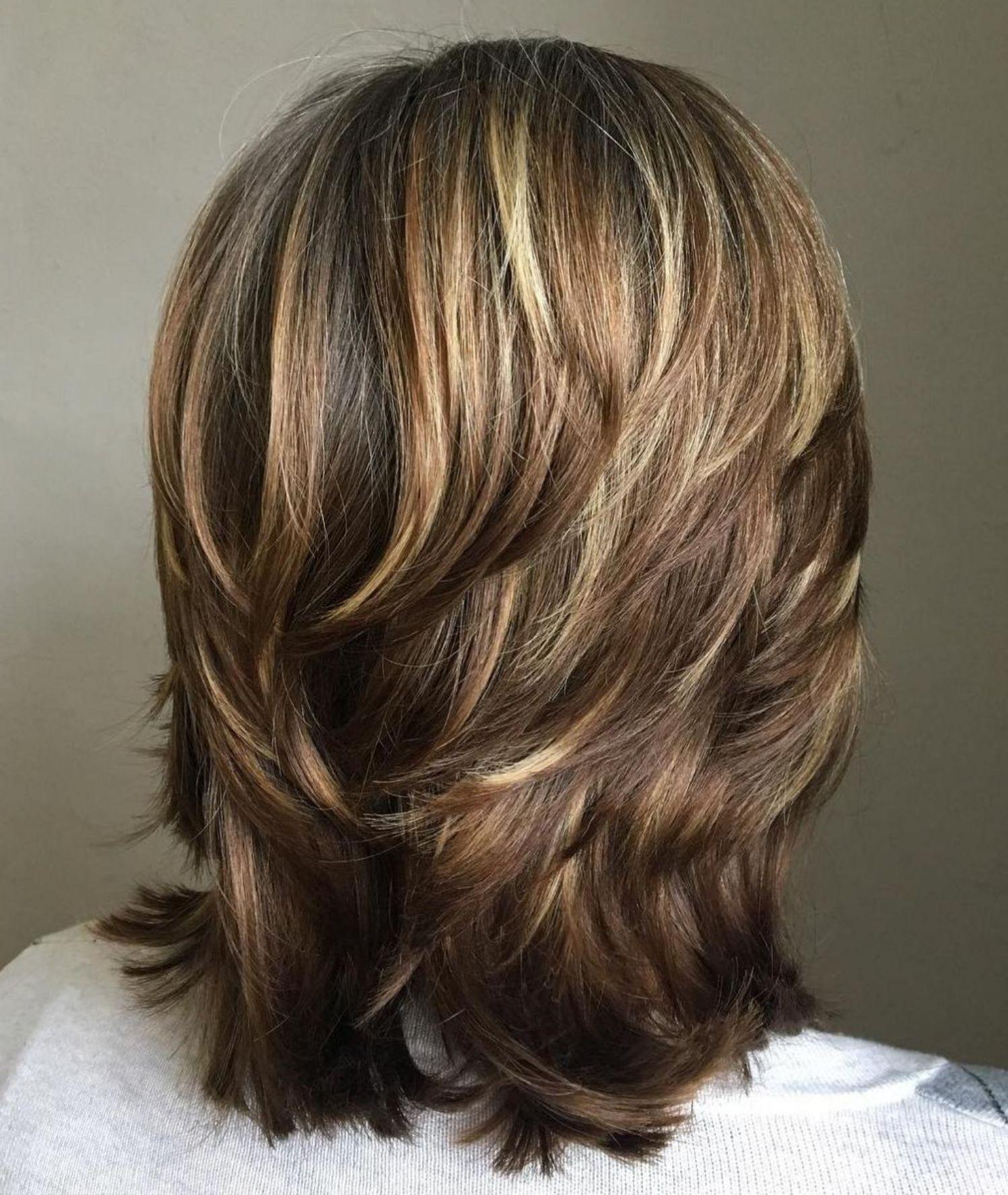 Medium Length Choppy Layered Hairstyle