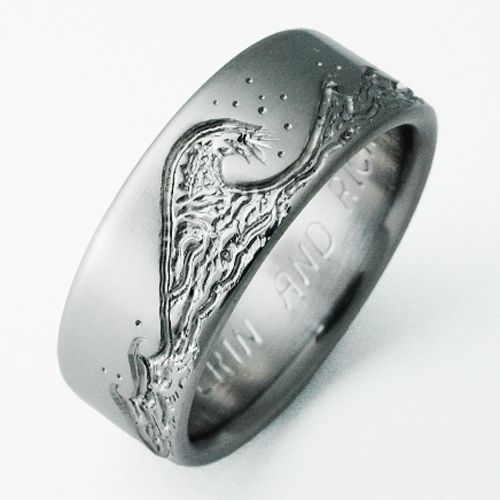 Anium Waves Wedding Ring By Exotica Jewelry
