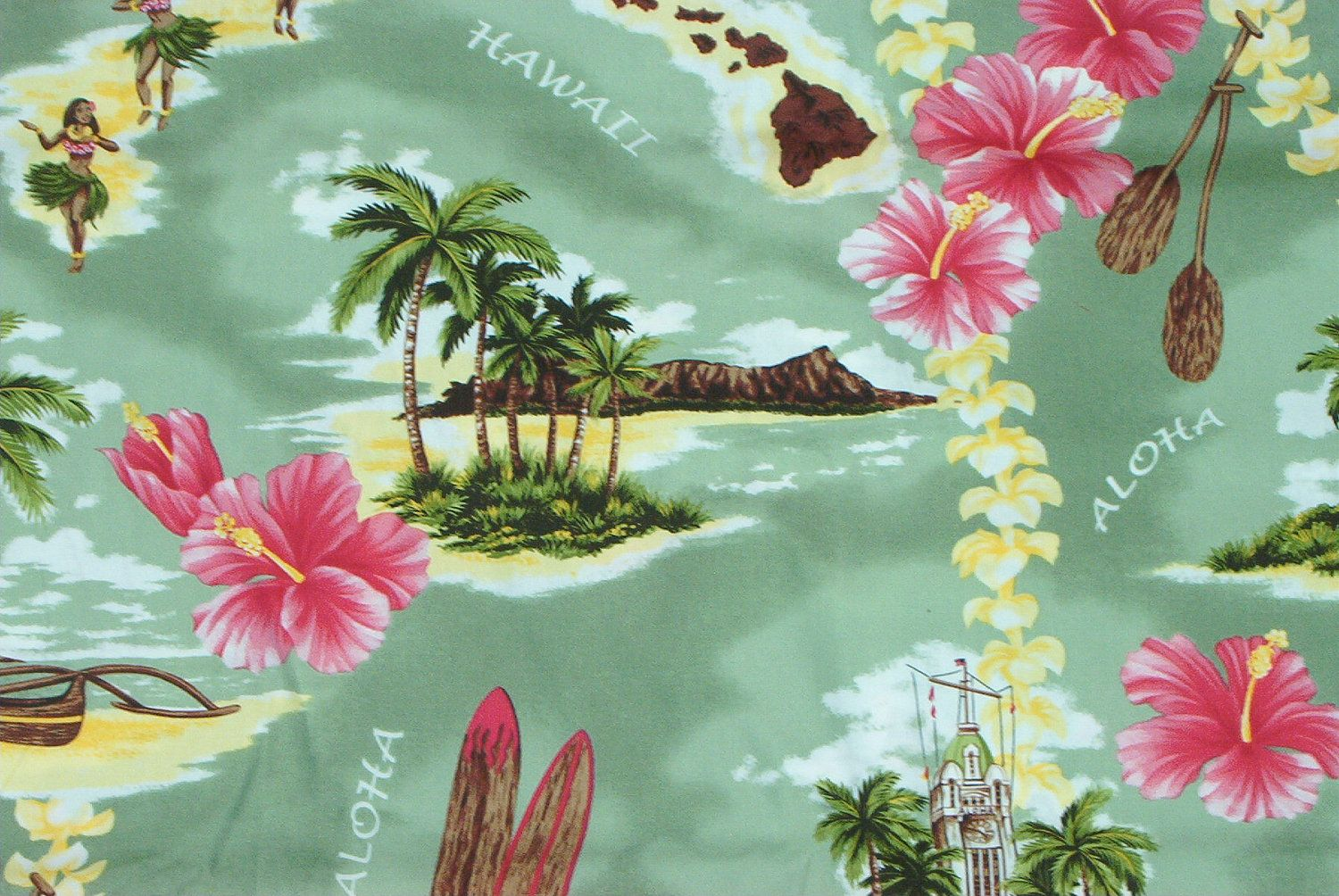 vintage hawaiian fabric