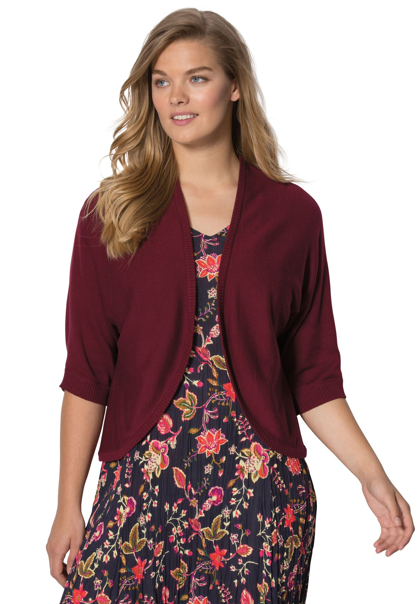 a8b8ee741f9 Rib-trimmed cardigan sweater - Women's Plus Size Clothing | Products ...
