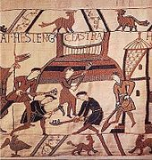 Motte And Bailey Castle Wikipedia Bayeux Tapestry Bayeaux Tapestry Tapestry Weaving