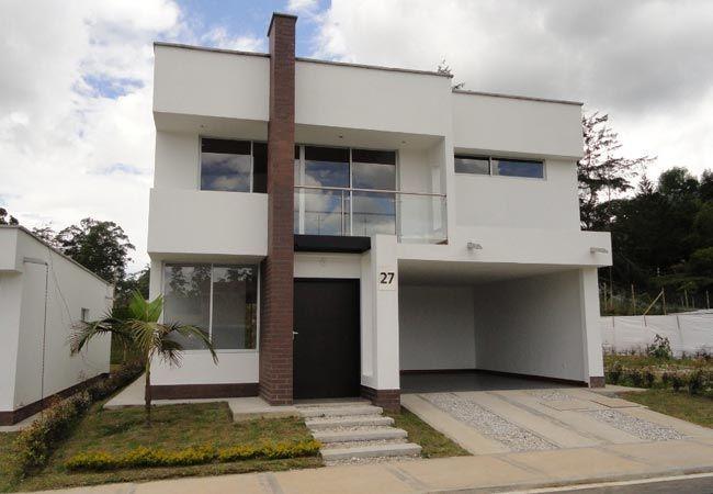 Fachadas de casas de dos pisos con balcon for Casa minimalista dos plantas