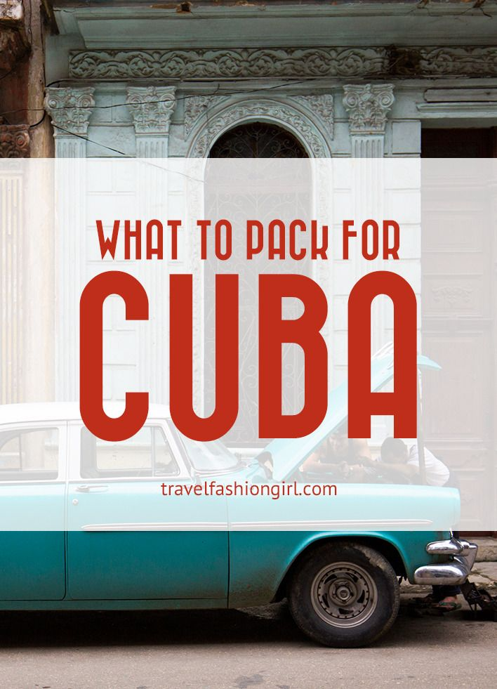 Traveling to Cuba this Spring or Summer? Find out what to pack for Cuba with these helpful tips on clothing and other essentials!