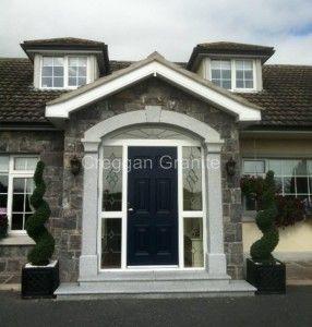 Silver Grey Granite Door Surround With Keystone Front Door Steps Doors Front Door