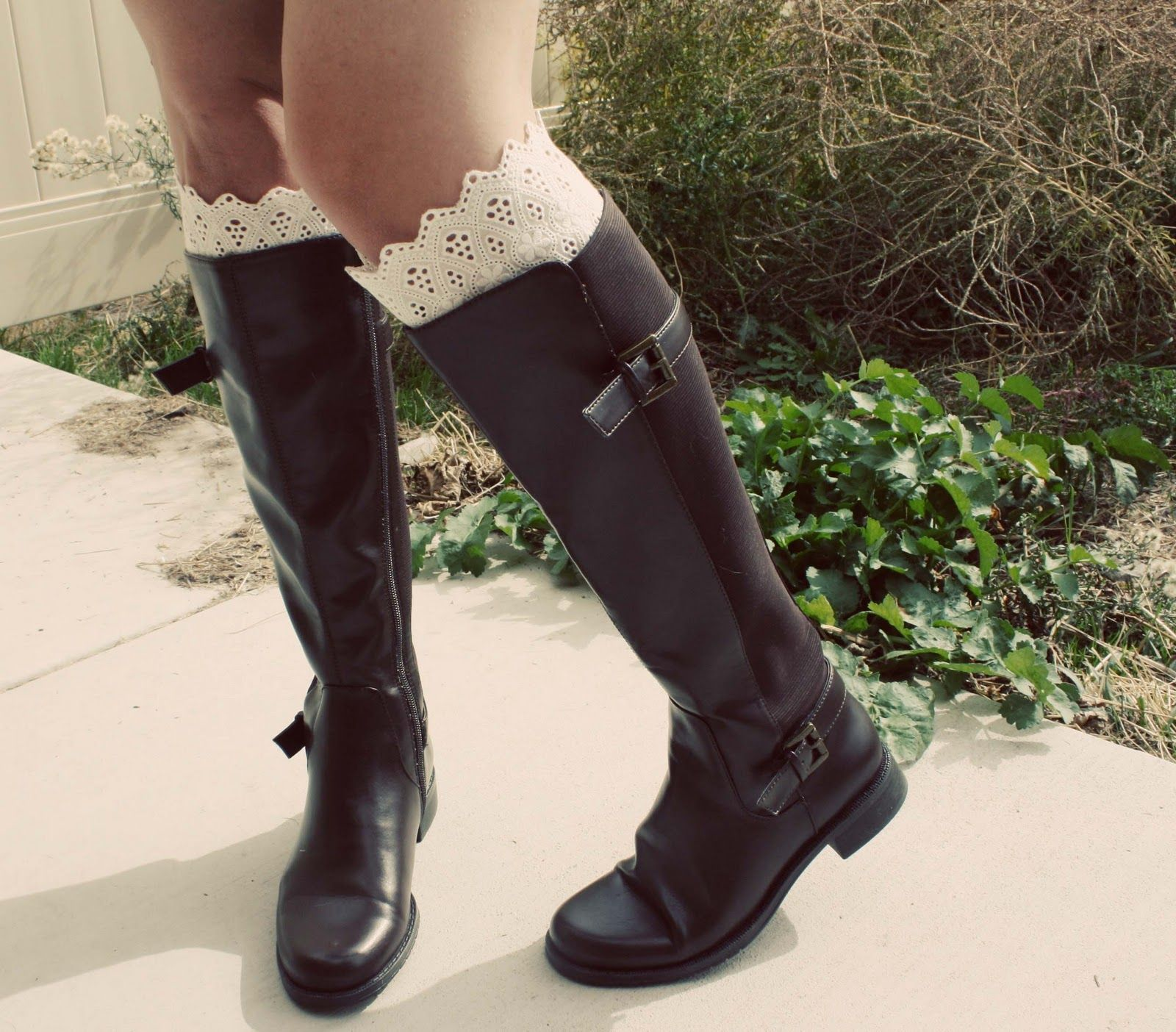 Fashion style How to lace wear boot socks for woman