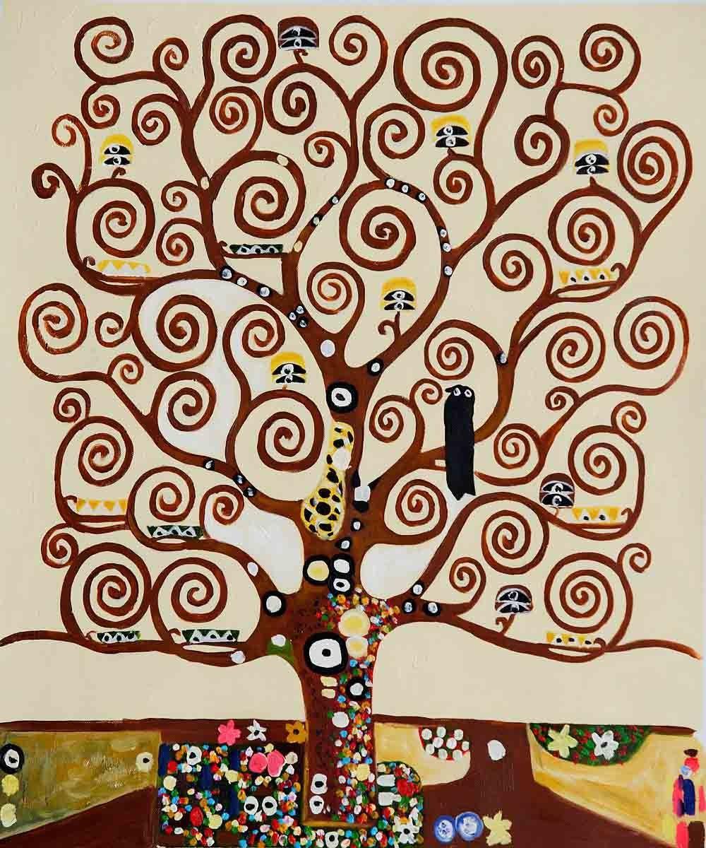 arbre de vie klimt illustrations arbres pinterest. Black Bedroom Furniture Sets. Home Design Ideas