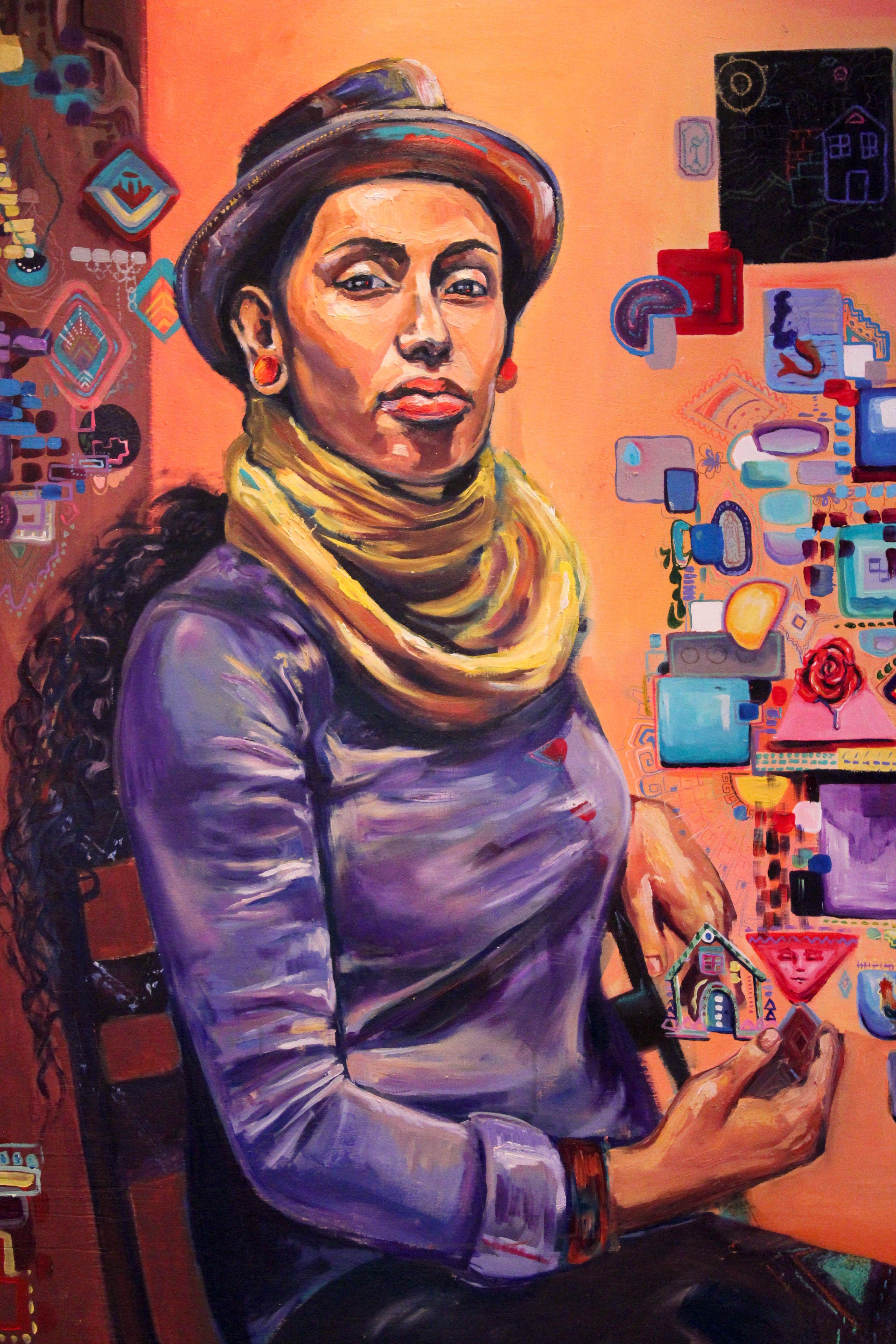 dana schutz fight in an elevator elevator new york and york latino heritage exhibition artist crystal galindo