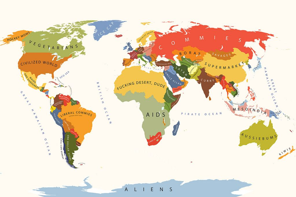 World According To The United States Of America Funny Maps Map