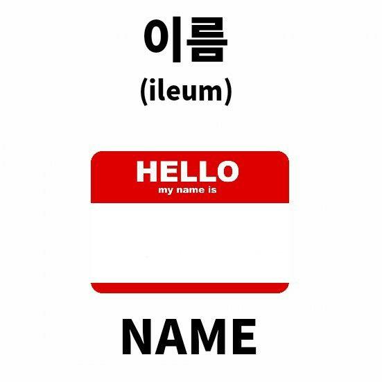 이름 (ireum) NAME