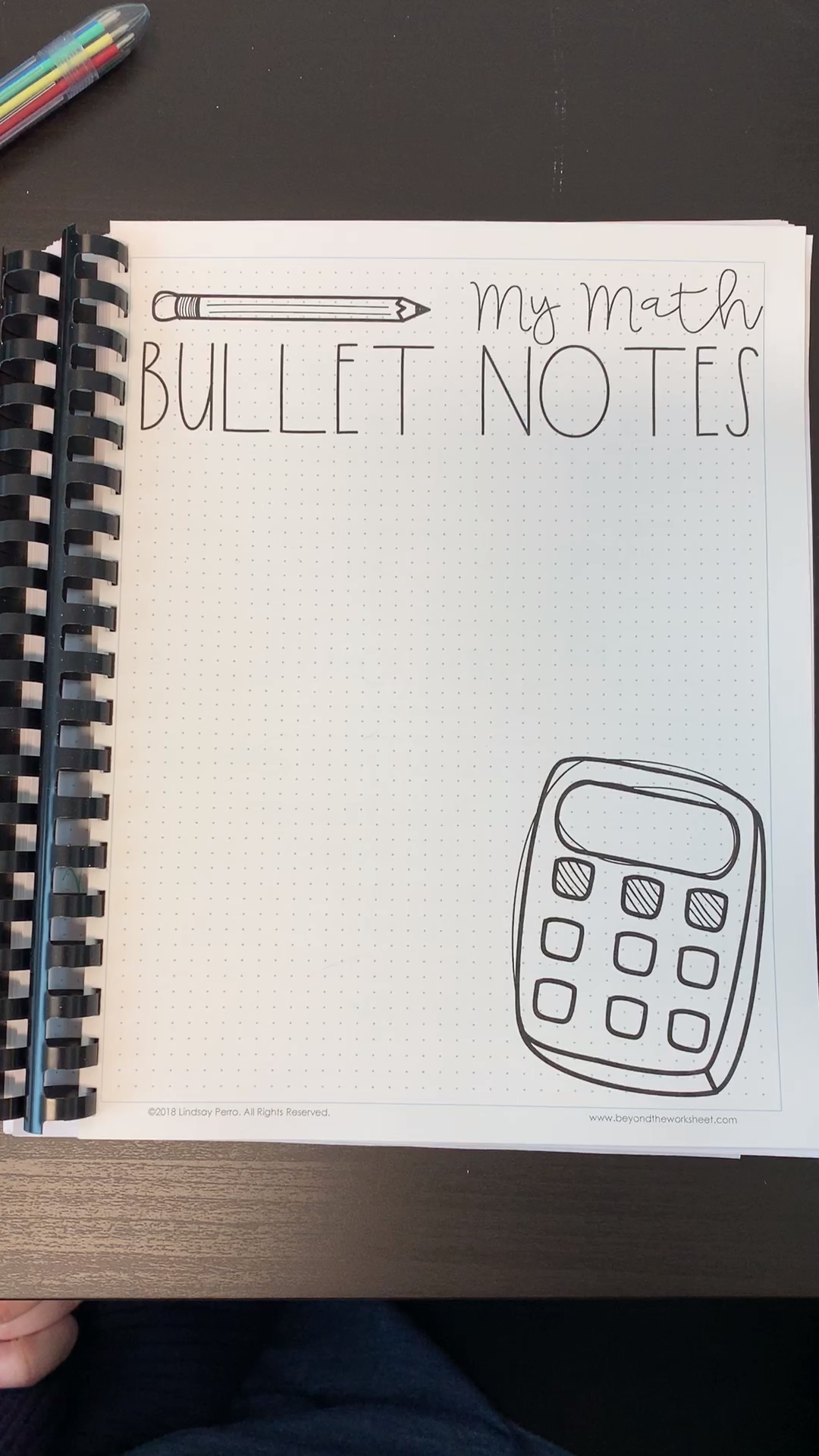 Take a look inside Math Bullet Notes!