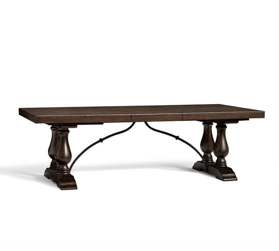 Lorraine Extending Dining Table; 96 - 120 Inches