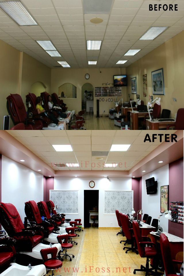 Remodel Nails Salon See How Different It Looks điểm Nhấn Nhỏ