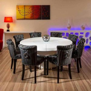 Large Round Dining Table Seats 8