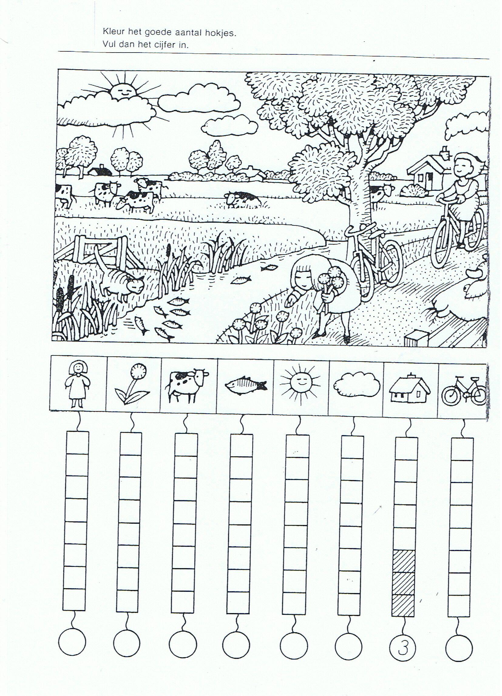 Mathe Zahlen Objekte Im Bild Finden Und Zahlen