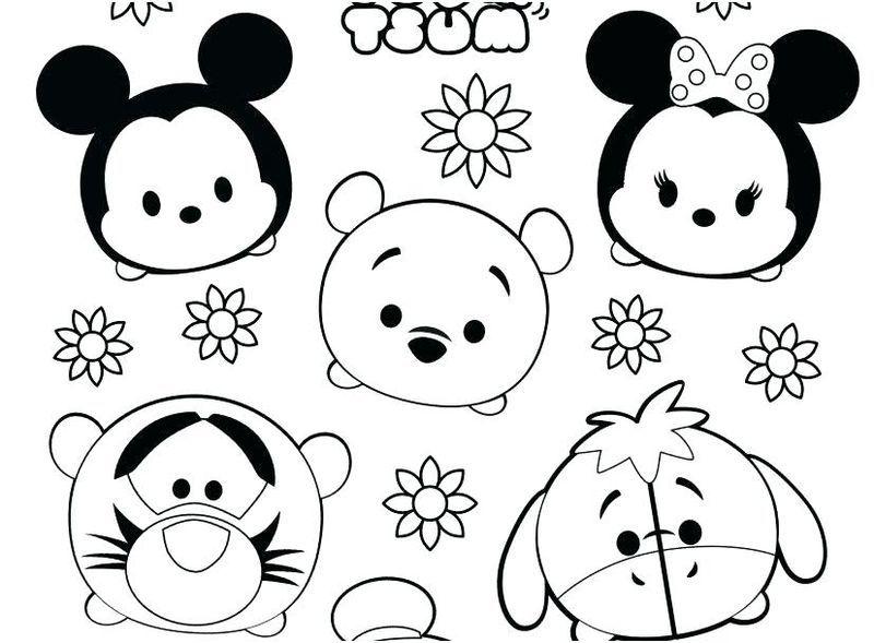 Cute Tsum Tsum Coloring Pages En 2020 Con Imagenes Dibujos