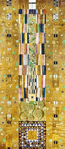Gustav Klimt - Werkvorlage zum Stoclet-Fries. Schmalwand.