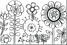 Image Result For How To Draw Wild Flowers Step By Step Spring Coloring Pages Printable Flower Coloring Pages Spring Coloring Sheets