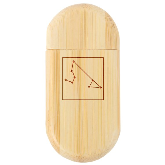 California 8Gb Bamboo USB Flash Drive with Rounded Corners Wood Flash Drive with Laser Engraving 8Gb USB Gift for All Occasions