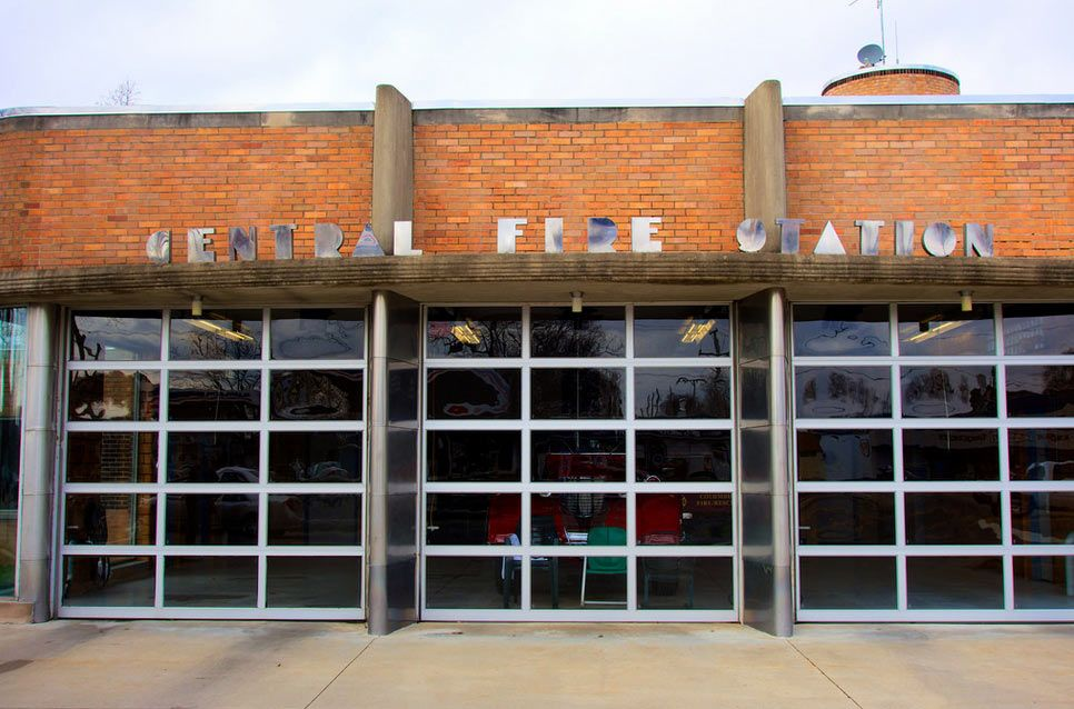 Fire Station One Designed By Leighton Bowers In 1941 In The Art Nouveau Style Flickr Photo By John Sampson Fire Station Architecture Columbus Indiana