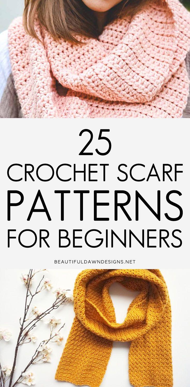 25 Crochet Scarf Patterns