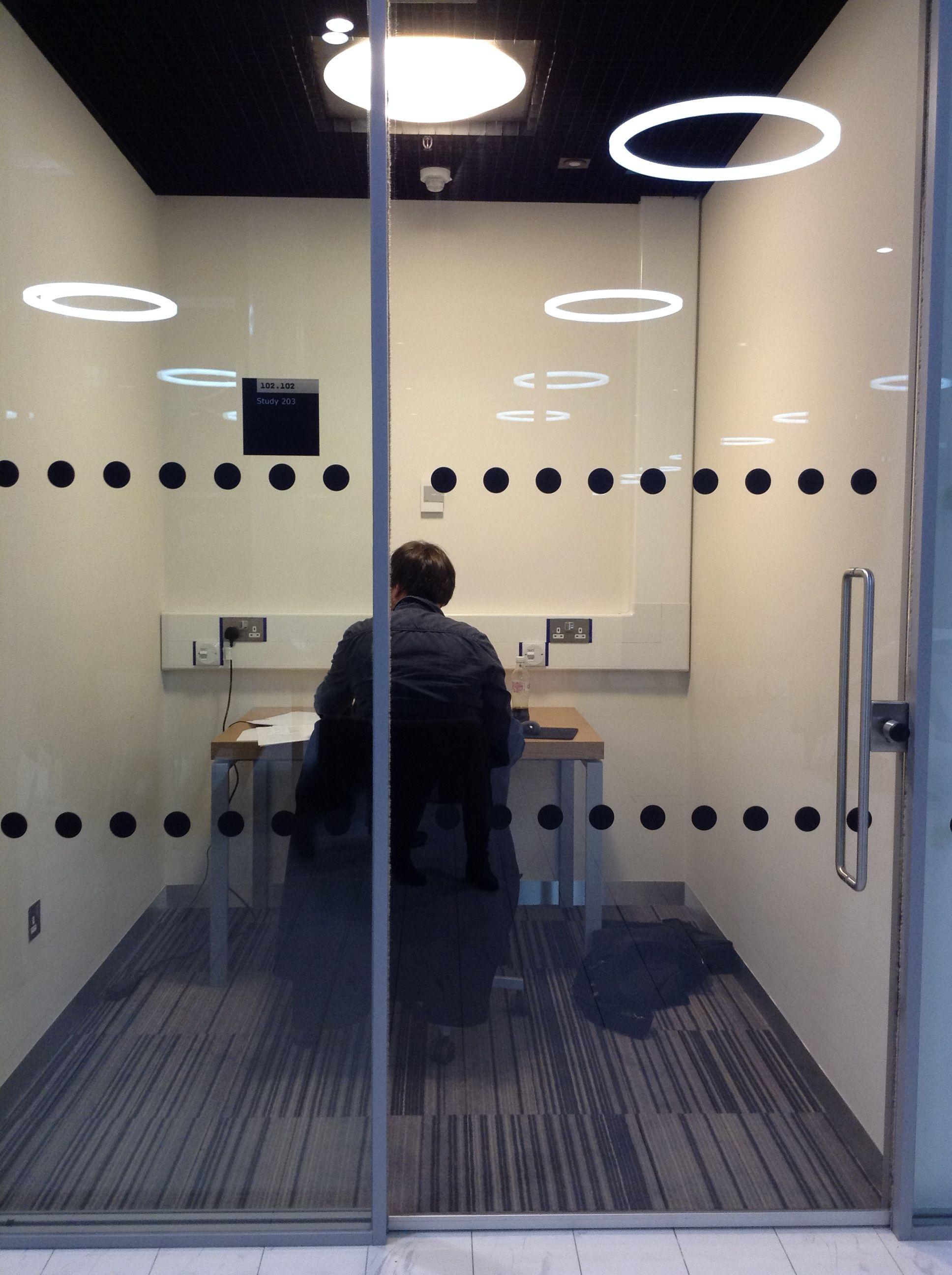 Study Room Glass: Audio/film? Individual Study? Training Room
