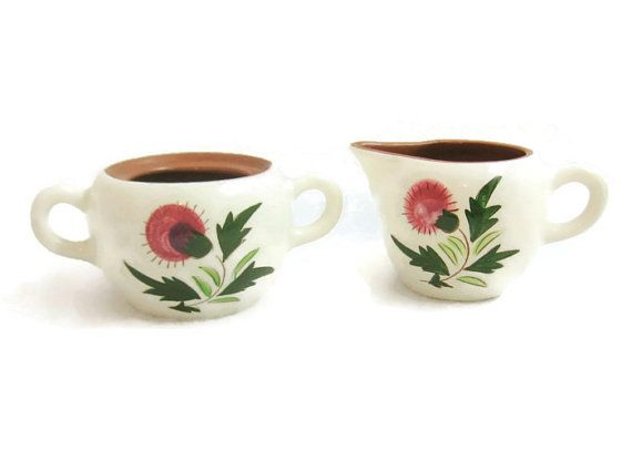 Stangl Pottery  Thistle Pattern Creamer and by GrannyBeansBoutique
