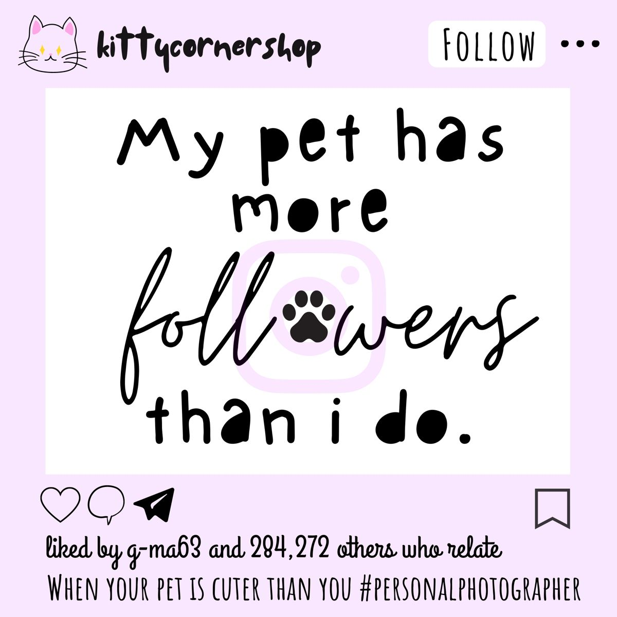 Instagram Magnet In 2020 Cat Rescue Shelter Pet Supply Stores Handmade Pet
