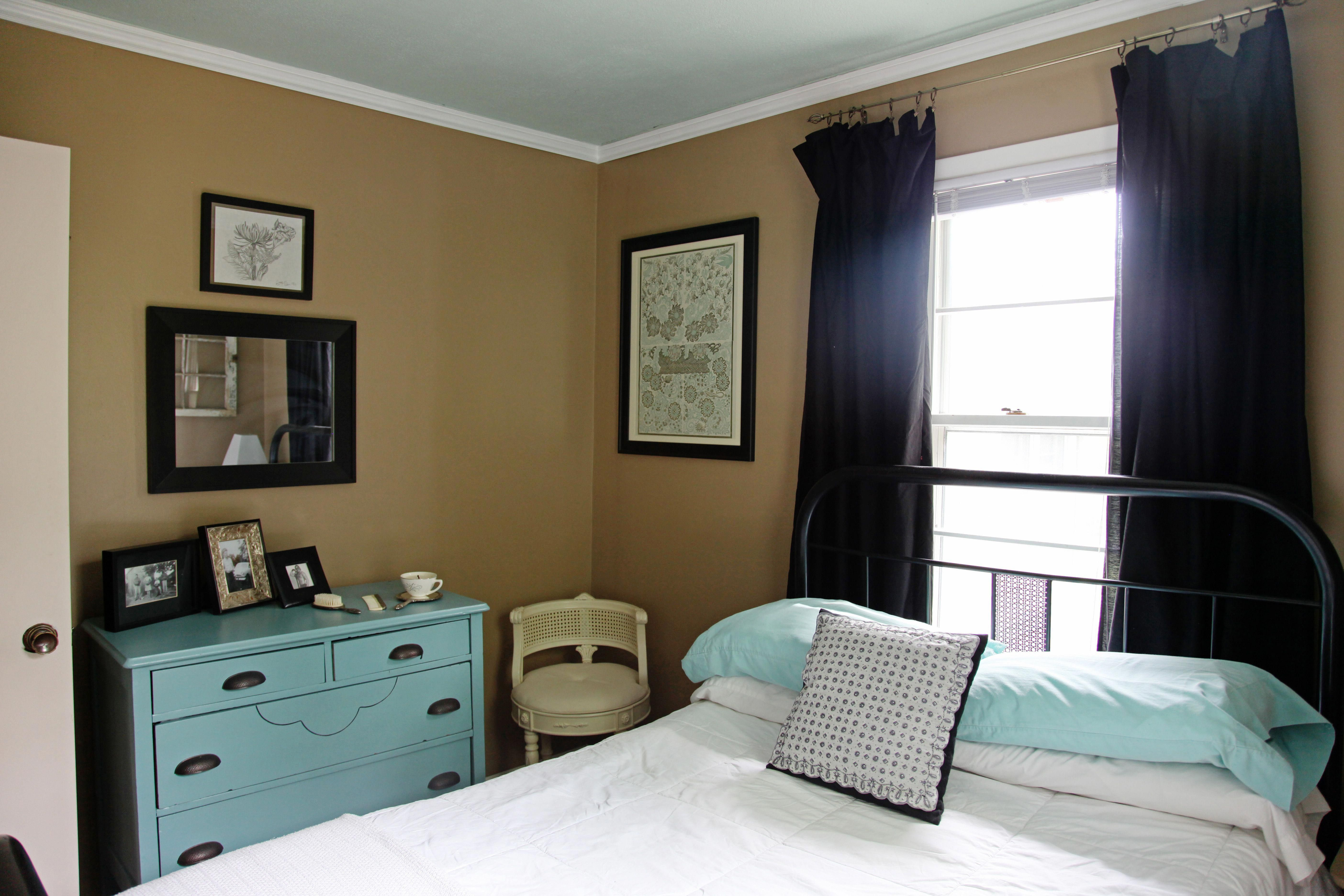 How to decorate a vintage guest room on a budget with diy ...
