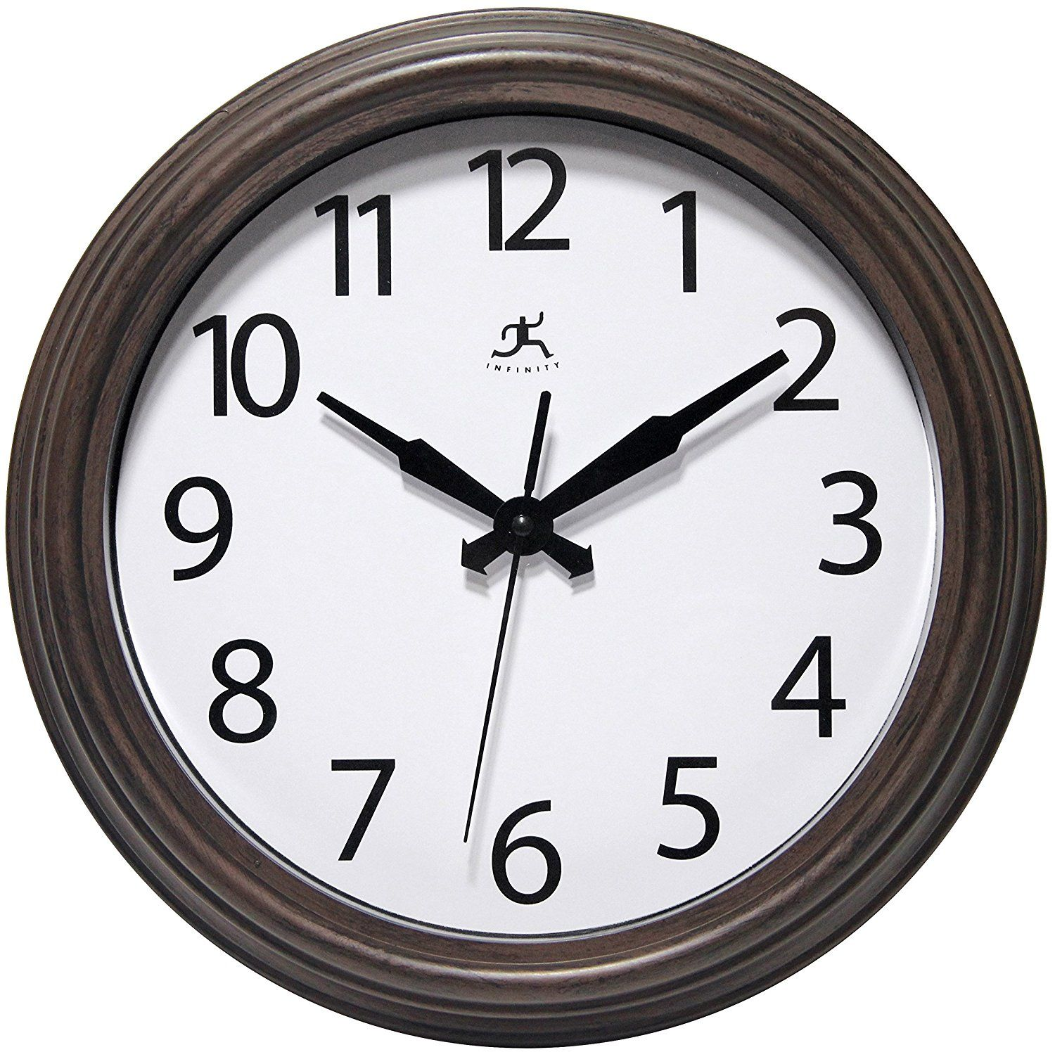 Infinity Instruments Fabrizio 12 Inch Antique Brown Wall Indoor Outdoor Wall Clock Check Out This Great Prod Outdoor Wall Clocks Wall Clock Brown Wall Clocks