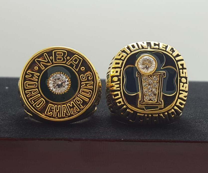 2 PCS Set 1981 1986 Boston Celtics National Basketball Championship Ring Size 7-15