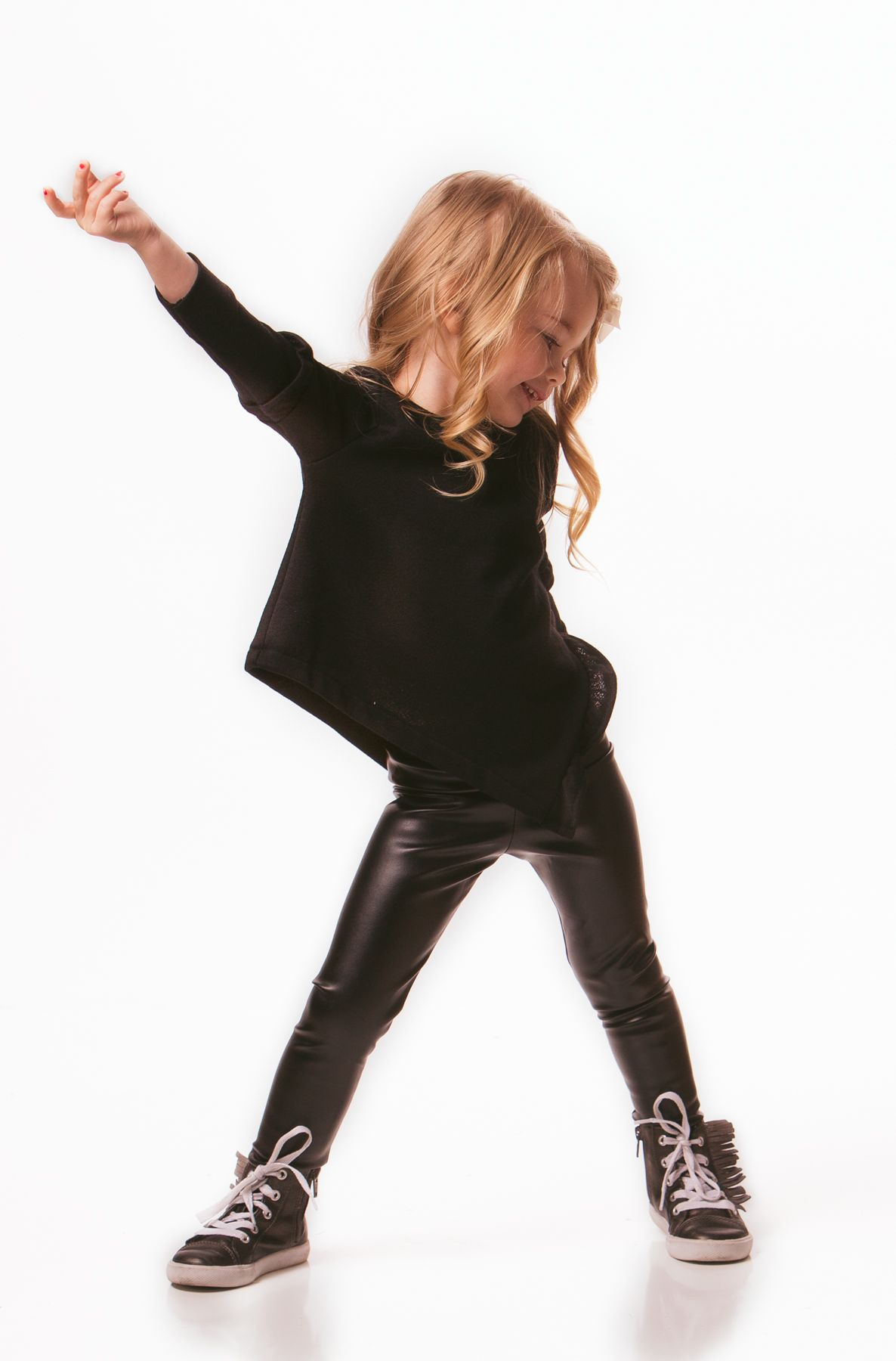 848176e381d20 Asymmetrical sweater with leather legging. Asymmetrical Sweater, Leather  Leggings, Lemon, Little Girls