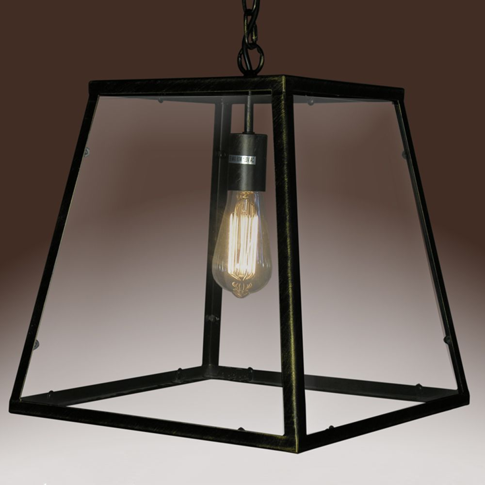 Warehouse Of Tiffany Minerva Single Light Black Edison Lamp