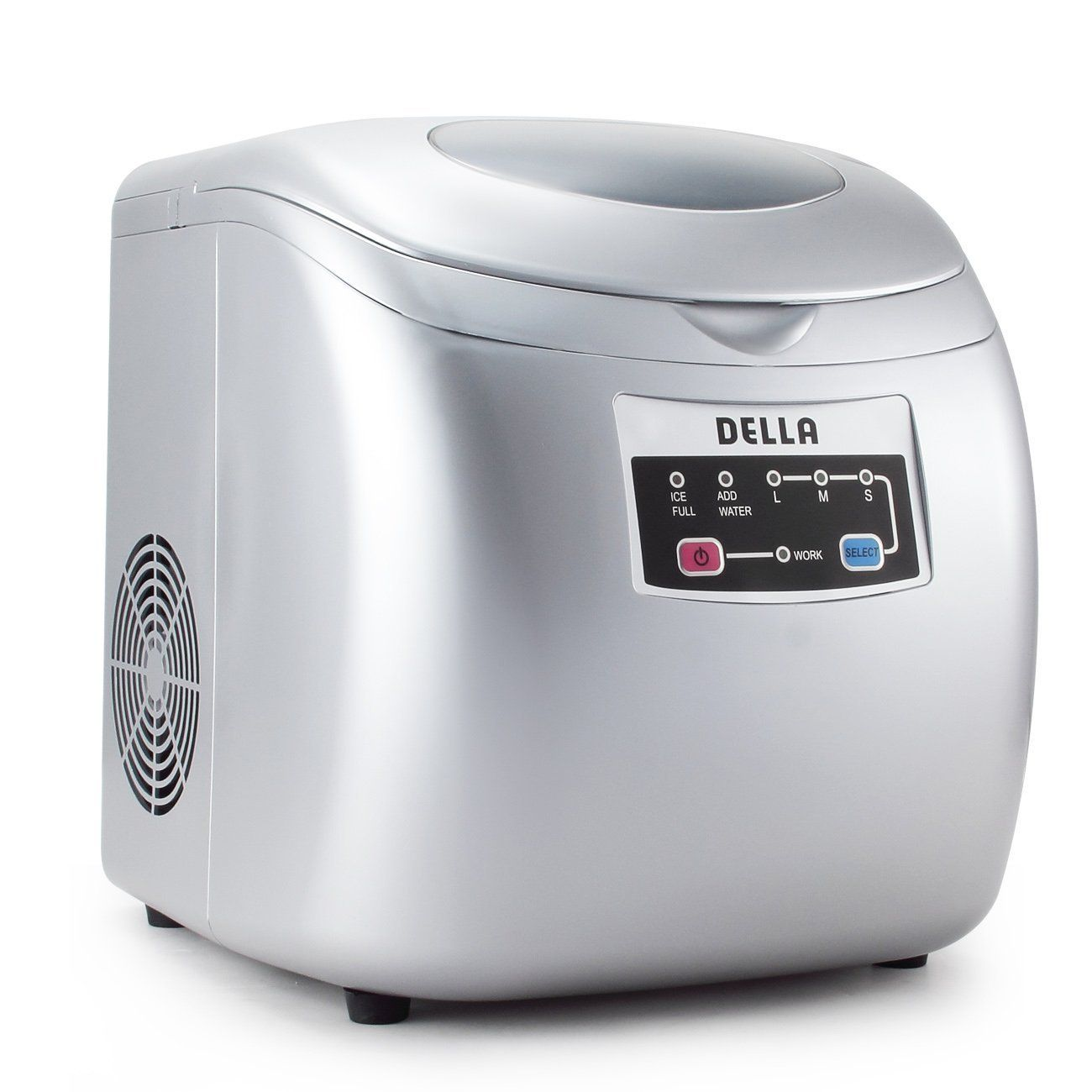 Della 048 Gm 48221 Portable Ice Maker Easy Touch Buttons 26lb Per Day Countertop Machine 3 Selectable Cube Sizes Portable Ice Maker Ice Maker Machine Ice Maker
