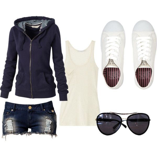 Casual summer outfit. I like it!!  Pants!