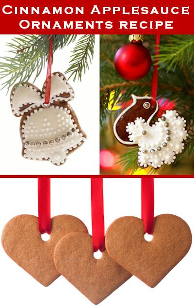 Decorate your Christmas Tree and home with these cute Cinnamon Applesauce ornaments. Your whole house will smell apple-cinnamony during the holidays!!!! Add crushed cloves, and even more wonderful!