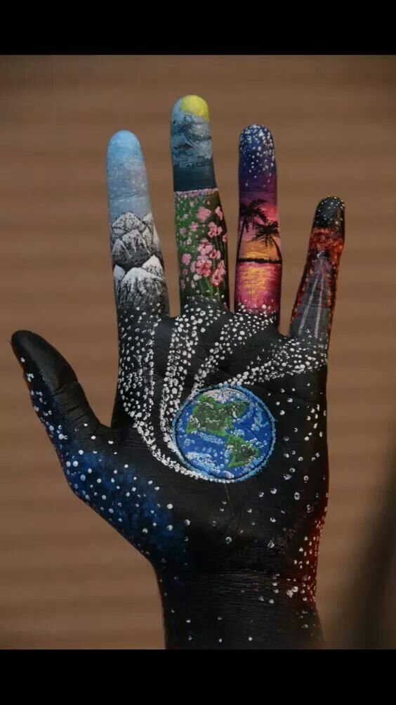 In The Palm Of Your Hand Body Painting Hand Art Body Art Painting