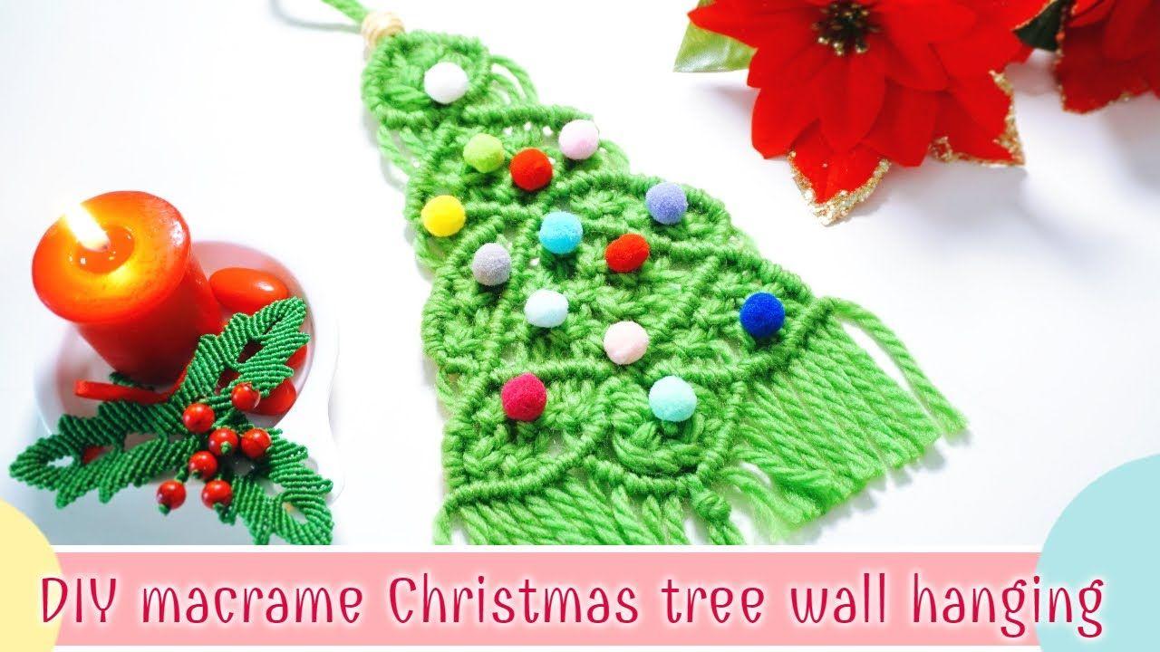 Diy Macrame Christmas Tree Wall Hanging Diy Christmas Tree Wall Hangin Christmas Hanging Decorations Diy Christmas Tree Christmas Decorations